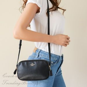 Coach F30259 Crossbody Pouch In Pebble Leather